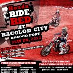 Honda Ride Red at Bacolod City, May 28, 2017, Bredco Port