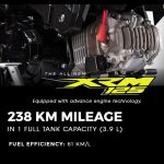 What makes commute with the All-New XRM125 more exciting? You save more gas!