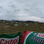 Race Track is all set!  CASTROL POWER-1 FLAT TRACK SERIES Oct. 15, 2017 @Bredco …