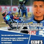 Let's help Mario Borbon Jr. to ride again!  International Champion and the Prid…