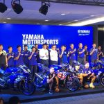 Yamaha Motor Corporation launched its 2018 Yamaha racing teams participating in …