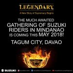 Are you ready Mindanao?  #thelegendaryinMindanao #suzukimotorsph
