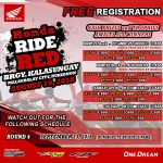 SEE U SOON…HONDA RIDE RED Brgy. Kalasungay, MALAYBALAY CITY, Bukidnon August 1…