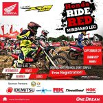Are you Ready for the Xtreme Tagum City?   For the first time!  Honda Ride Red T…