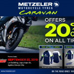 Enjoy 20% OFF On all Tires. Metzeler Dealer Caravan in Davao! LYR Motorparts loc…