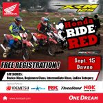 HONDA RIDE RED Davao City this September 15, 2019  LDL Properties, Diversion Roa…