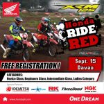 Honda Ride Red Davao Race!  This weekend at the LFl property Diversion Road Buha…