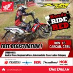 4 -Days to Go!  Honda Ride Red November 16, 2019 Saturday  at the New City Cente…