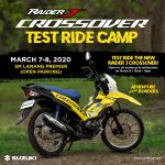 The Crossover will be in Davao this Weekend!  the Suzuki Raider J Crossover Test…