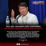 #TRLNews  DILG SEC. Eduardo Año confirmed he tested positive again for COVID-19 …